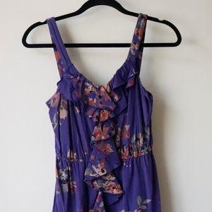 Express Purple Mini Dress with Flower print